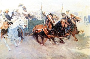 Frederic Remington - Bringing Home the New Cook 1907