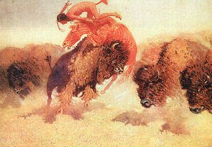 Frederic Remington - The Buffalo Runner 1907