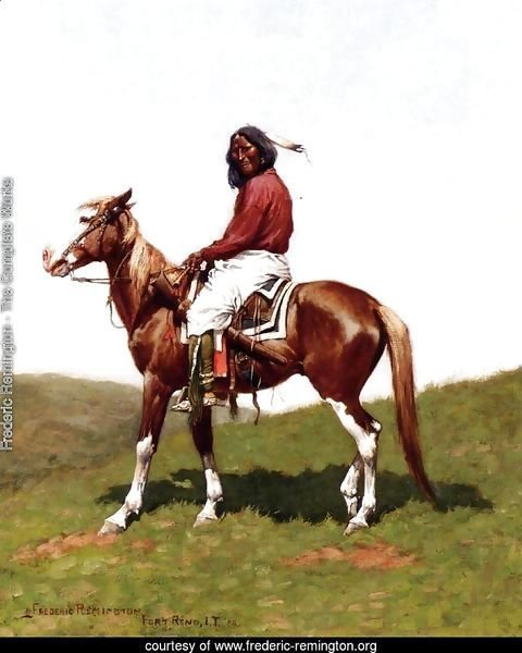 Comanche Brave, Fort Reno, Indian Territory