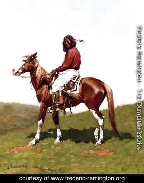 Frederic Remington - Comanche Brave, Fort Reno, Indian Territory
