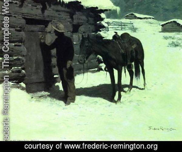 Frederic Remington - The Belated Traveler