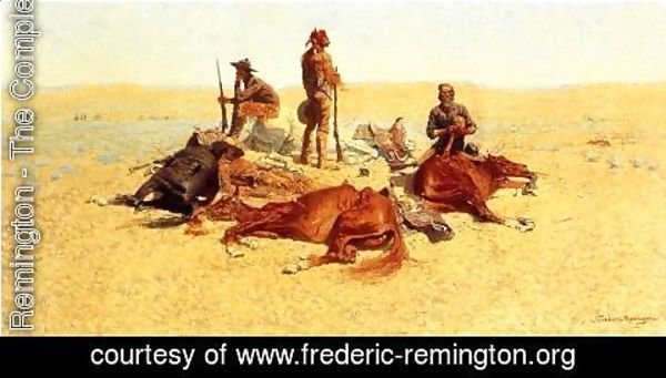 Frederic Remington - The Last Lull in the Fight