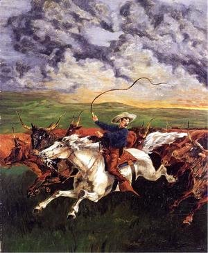 Frederic Remington - Prarie Fire