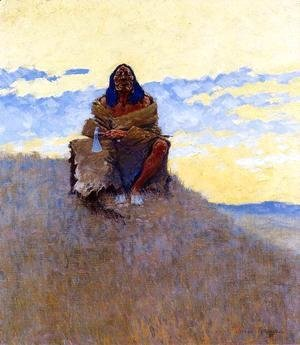Frederic Remington - When His Heart is Bad