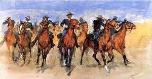 Frederic Remington - Colored Troopers to the Rescue