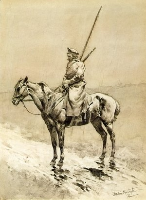 Frederic Remington - Cossack Picket on the German Frontier