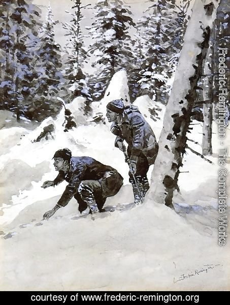 Frederic Remington - On the Caribou Tracks