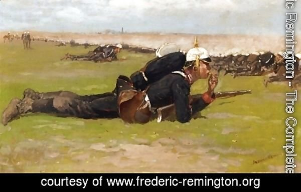 Frederic Remington - Field Drill for the Prussian Infantry