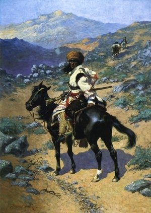 Frederic Remington - An Indian Trapper