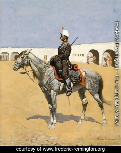 Frederic Remington - Cavalryman of the Line, Mexico