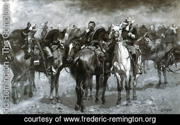 Frederic Remington - Cavalry in an Arizona Sandstorm
