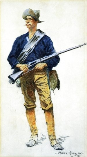Frederic Remington - Infantry Soldier