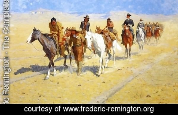 Frederic Remington - Pony Tracks in the Buffalo Trails
