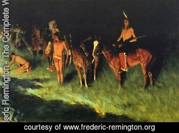 Frederic Remington - The Grass Fire