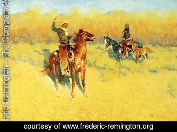 Frederic Remington - The Long-Horn Cattle Sign