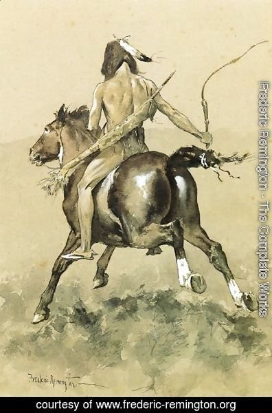 Frederic Remington - Going to the Buffalo Hunt