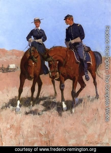 Frederic Remington - Belle McKeever and Lt. Edgar Wheelock