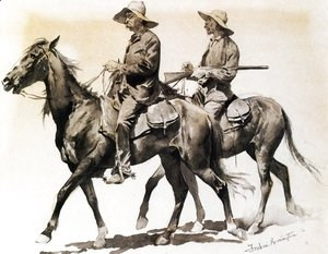 Frederic Remington - Cracker Cowboys of Florida