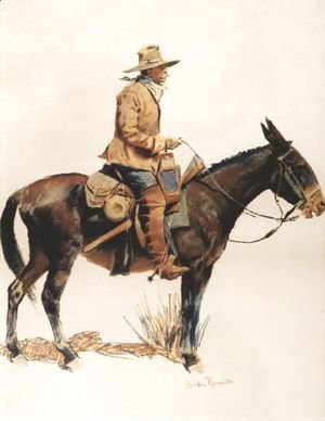 Frederic Remington - Army Packer