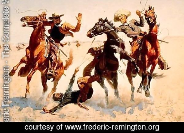 Frederic Remington - Breaking Horses