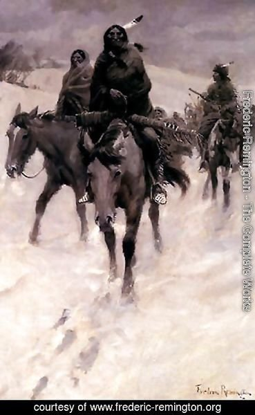Frederic Remington - On the Trail