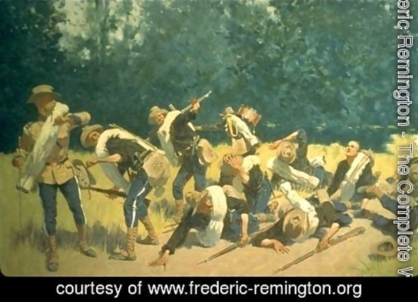 Frederic Remington - Scream of Shrapnel at San Juan Hill, Cuba