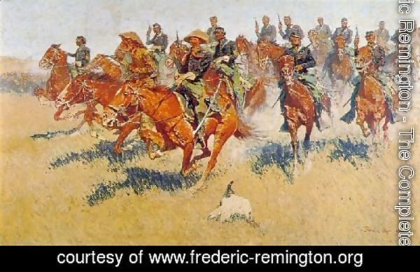 Frederic Remington - The Cavalry Charge