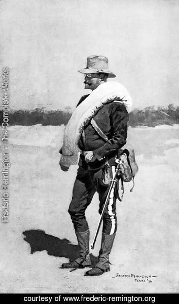 Frederic Remington - A Captain of Infantry in Field Rig