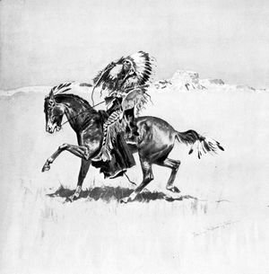 Frederic Remington - A Cheyenne Warrior