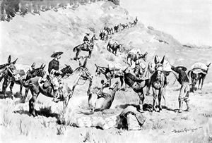 Frederic Remington - A Government Pack Train