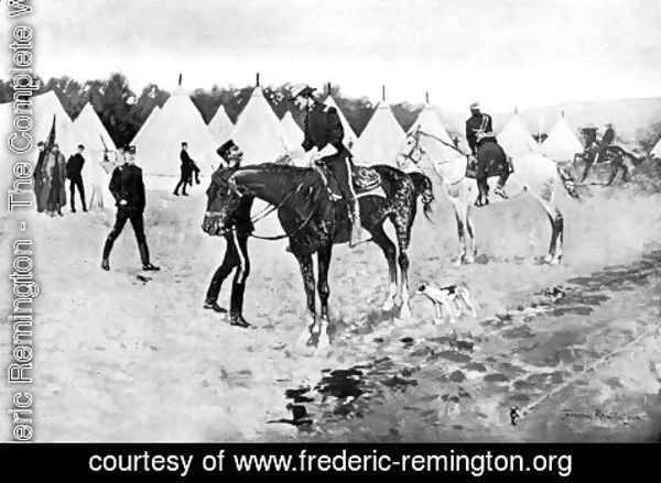 Frederic Remington - A Modern Cavalry Camp