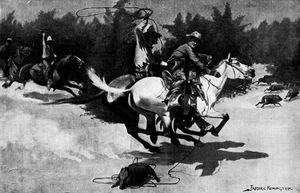 Frederic Remington - A Peccary Hunt in Northern Mexico