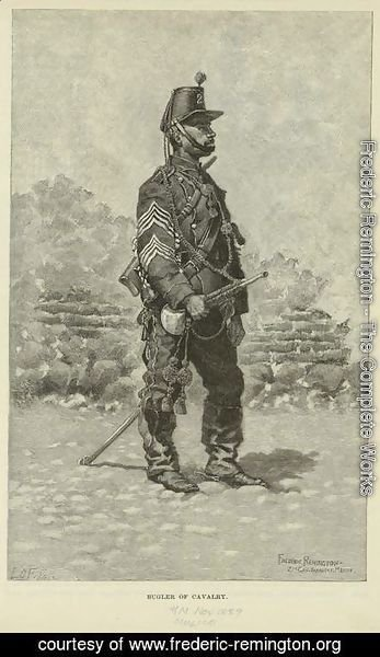 A bugler of cavalry in the Mexican Army