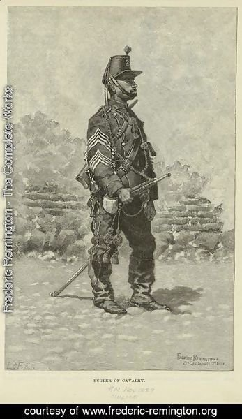 Frederic Remington - A bugler of cavalry in the Mexican Army
