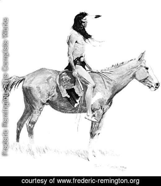 Frederic Remington - An Indian Brave