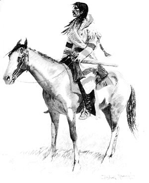 Frederic Remington - An Indian Scout