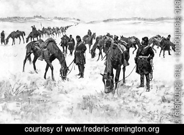 Frederic Remington - Cavalry Column out of Forage
