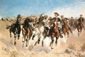 Frederic Remington - Dismounted, The Fourth Trooper Moving the Led Horses