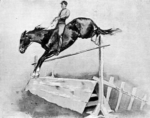 Frederic Remington - Five-Foot Hurdle Bareback