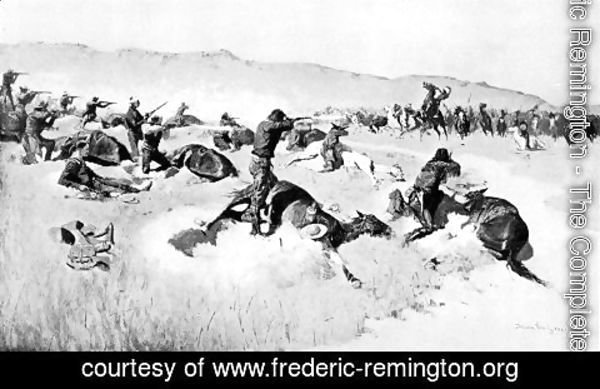 Frederic Remington - Forsythe's Fight on the Republican River