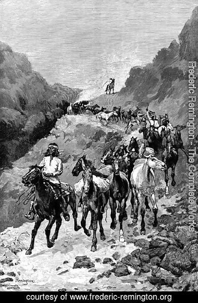 Frederic Remington - Geronimo and His Band Returning from a Raid into Mexico
