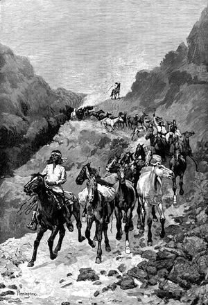 Geronimo and His Band Returning from a Raid into Mexico