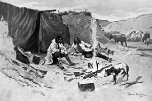 Frederic Remington - Half-Breed Horse Thieves of the Northwest