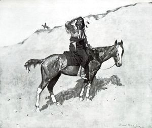 Frederic Remington - Hostiles Watching the column
