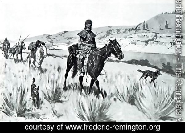 Frederic Remington - Hunting a Beaver Stream
