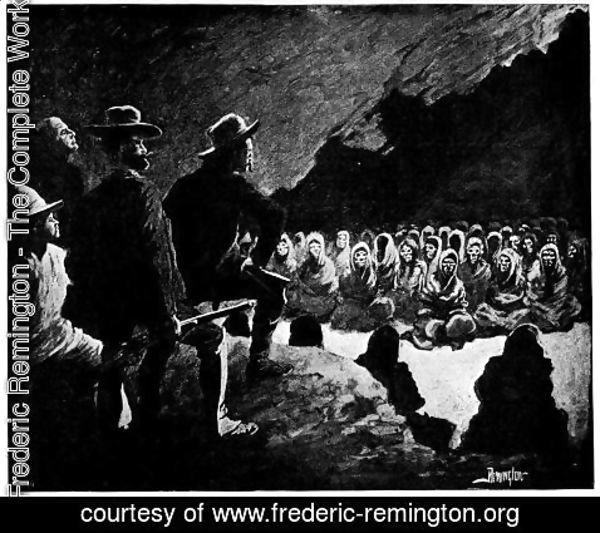 Frederic Remington - In the Cave of the Dead
