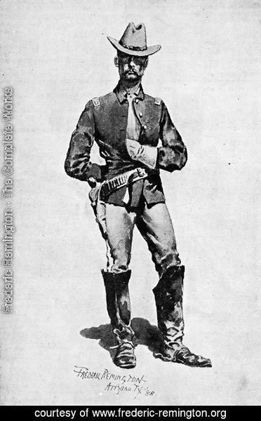 Frederic Remington - Lieutenant James M. Watson, Tenth Cavalry