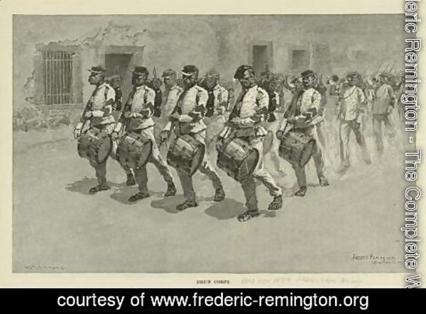Frederic Remington - Mexican Army Drum Corps
