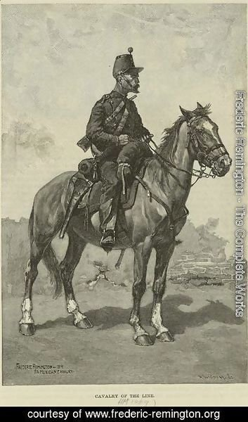 Frederic Remington - Mexican Cavalry of the Line