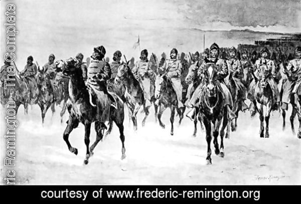 Frederic Remington - Miles's Army at Pine Ridge